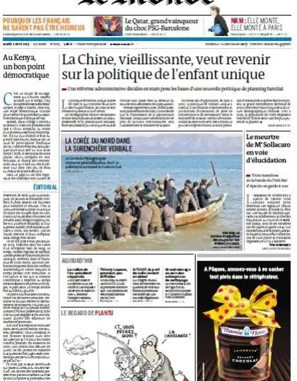 Le Monde du Mardi 02 Avril 2013