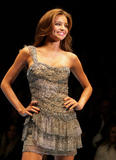 Miranda Kerr showing her body at catwalk at  David Jones Summer 2008 Collections Launch Summer In The City Show in Sydney