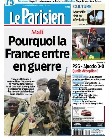 Le Parisien Samedi 12 Janvier 2013