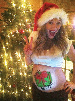 Hilary Duff Gets Ready For Christmas With Baby Bump Art