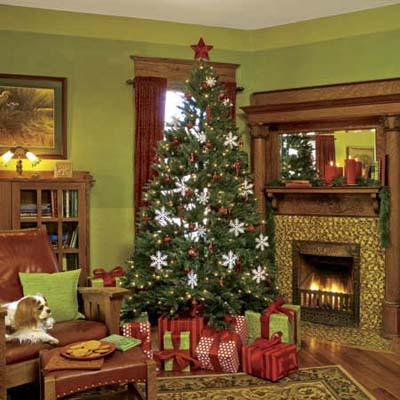 Holiday Trim Greetings From Our Old Red House This