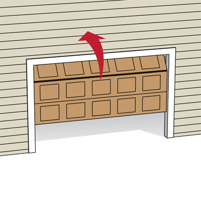 illustration of sectional garage door