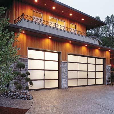 modern style garage door
