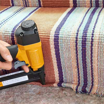 Secure the First Runner's End to Install a Flat-Weave Cotton Stair Runner
