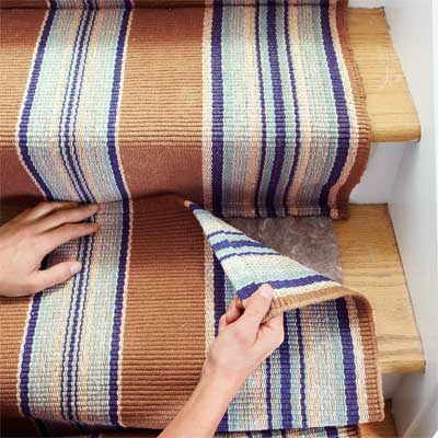 Beau Mate The Second Runner To Install A Flat Weave Cotton Stair Runner