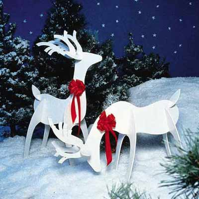 outdoor wooden reindeer pattern - Outdoor Wooden Reindeer Christmas Decorations