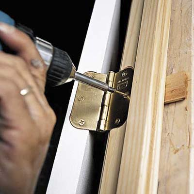 Replace Hinge Screw How To Install A Prehung Door This