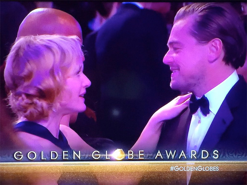 Golden Globes 2016: Leonardo DiCaprio and Kate Winslet Share Sweet Moment