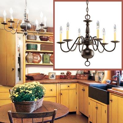 Six Light Chandelier Create A Shaker Style Kitchen