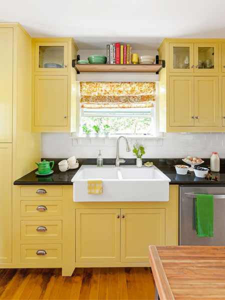 White Kitchen Yellow Walls