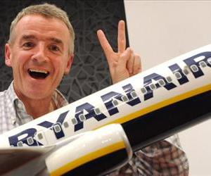 President of Irish budget carrier Ryanair Michael O'Leary poses prior to a press conference in Madrid on September 13, 2011.