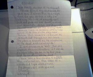 A letter ... do kids still write by hand these days?