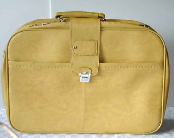 Yellow Vintage Suitcase