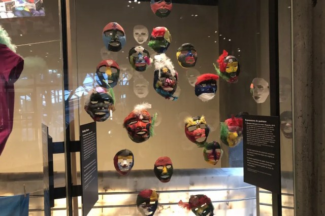 These masks were created by girls liberated after years of captivity