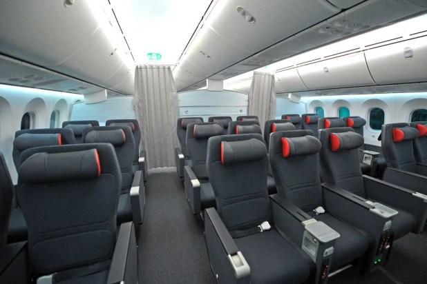 Air Canada's new Premium Economy cabin on the 787 Dreamliner