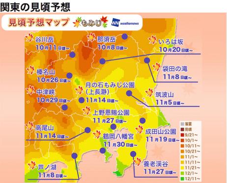 日本2017 關東地區賞楓情報