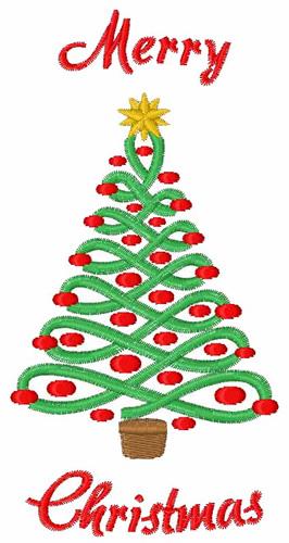 Merry Christmas Tree Embroidery Design AnnTheGran