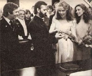 Ringo Starr and Barbara Bach at their wedding 1981