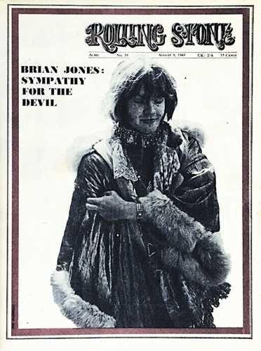 Brian Jones - Rolling Stone Magazine [United States] (9 August 1969)