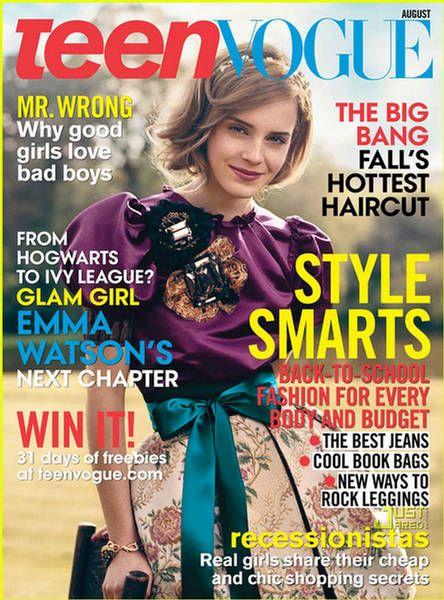 Emma Watson - Teen Vogue Magazine [United States] (August 2009)