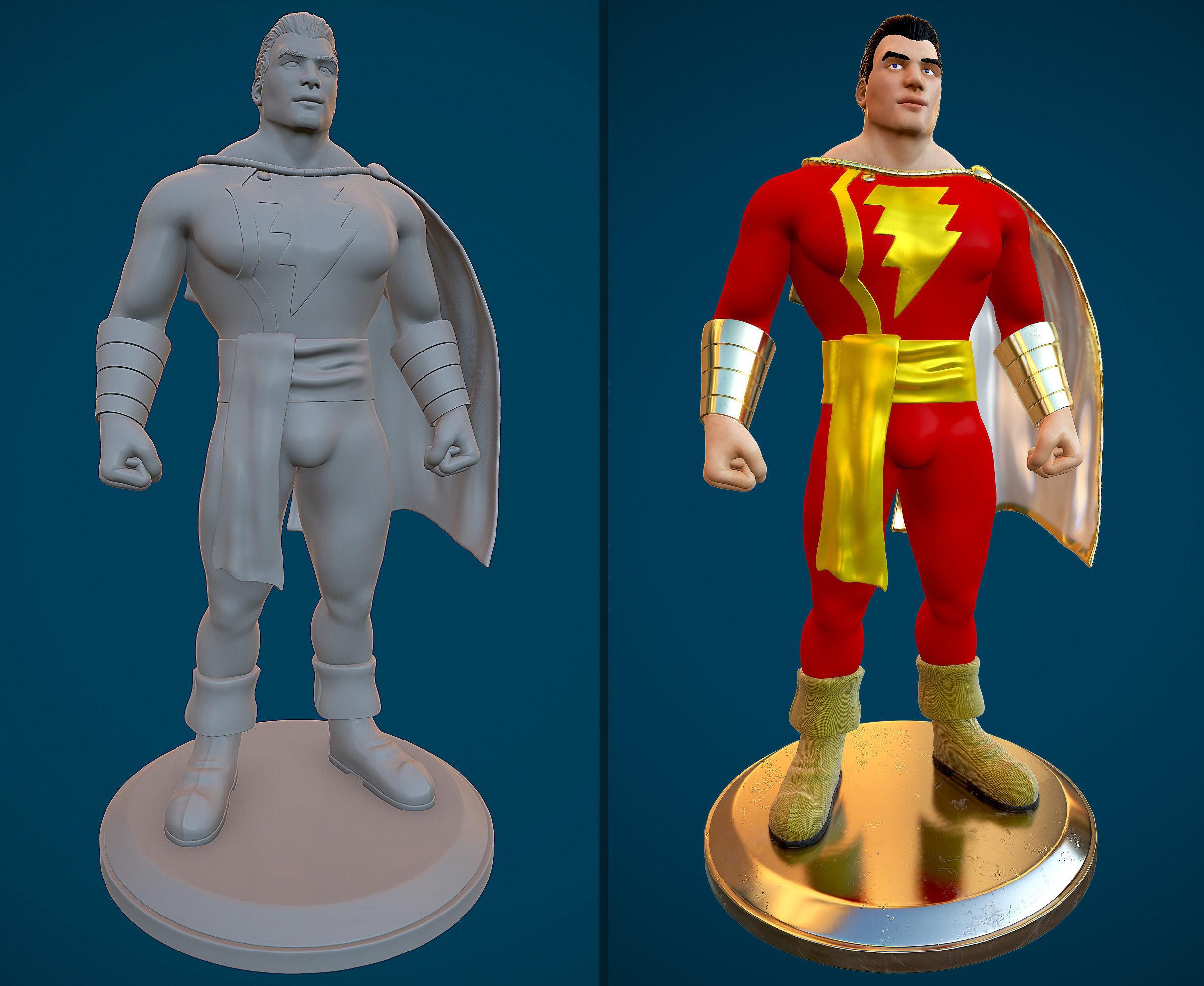 Captain Marvel 3D Model 3D Printable OBJ