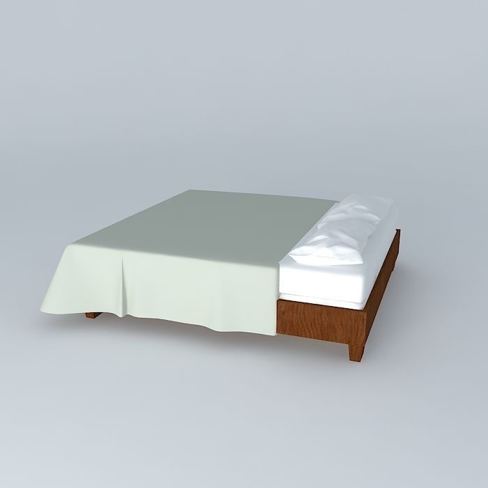 3d Max Bed Sheet Model Free Download  3d model of canopy wooden bed