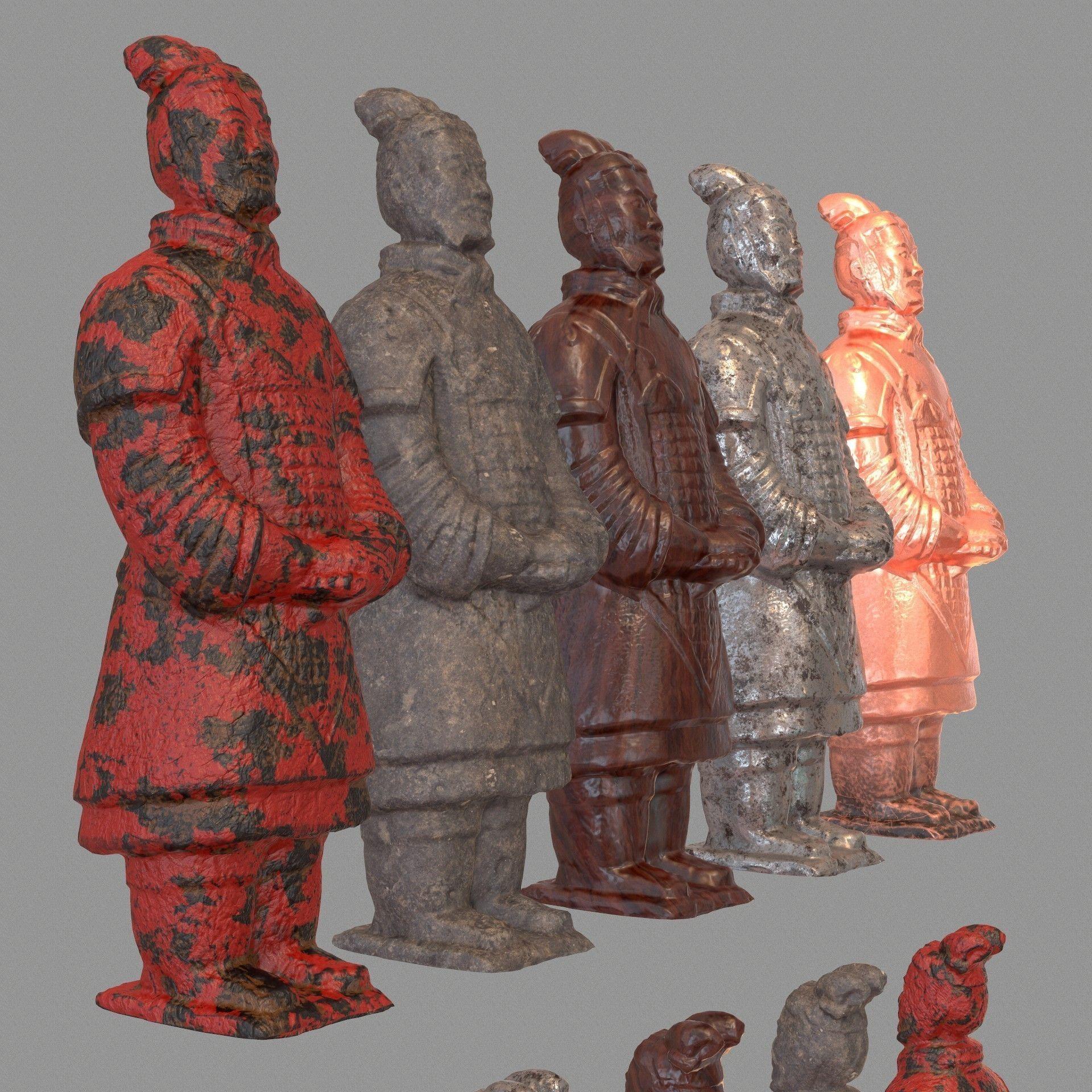Terracotta Warrior Variations 3D Model 3D Printable