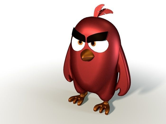angry birds red birds toys 3d model
