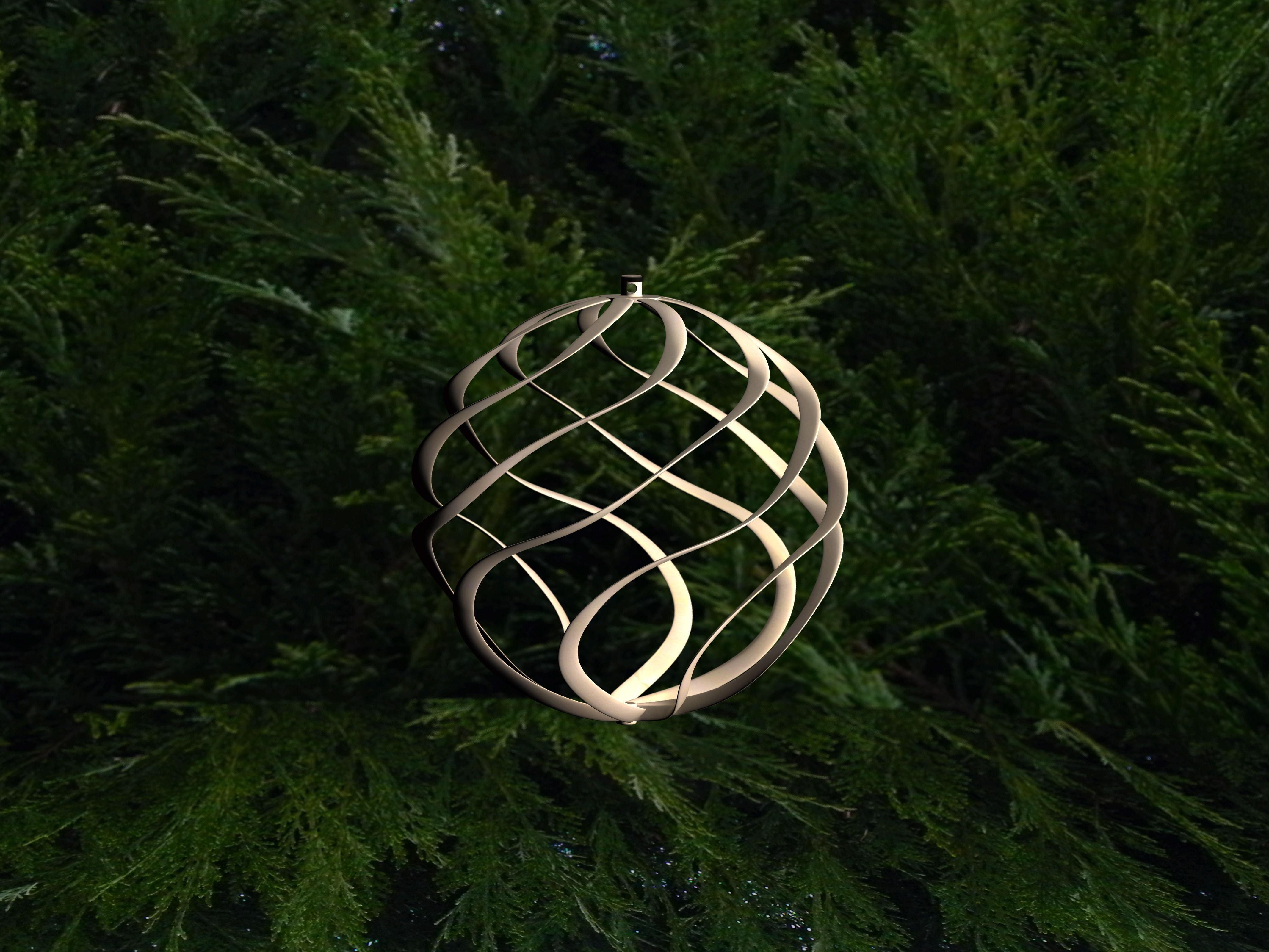 3d Printable Model Ornament For Christmas Tree