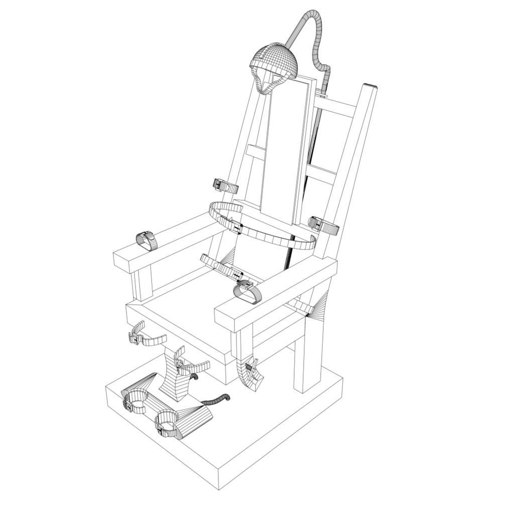 3d Model Electric Chair Vr Ar Low Poly Fbx Ma Mb
