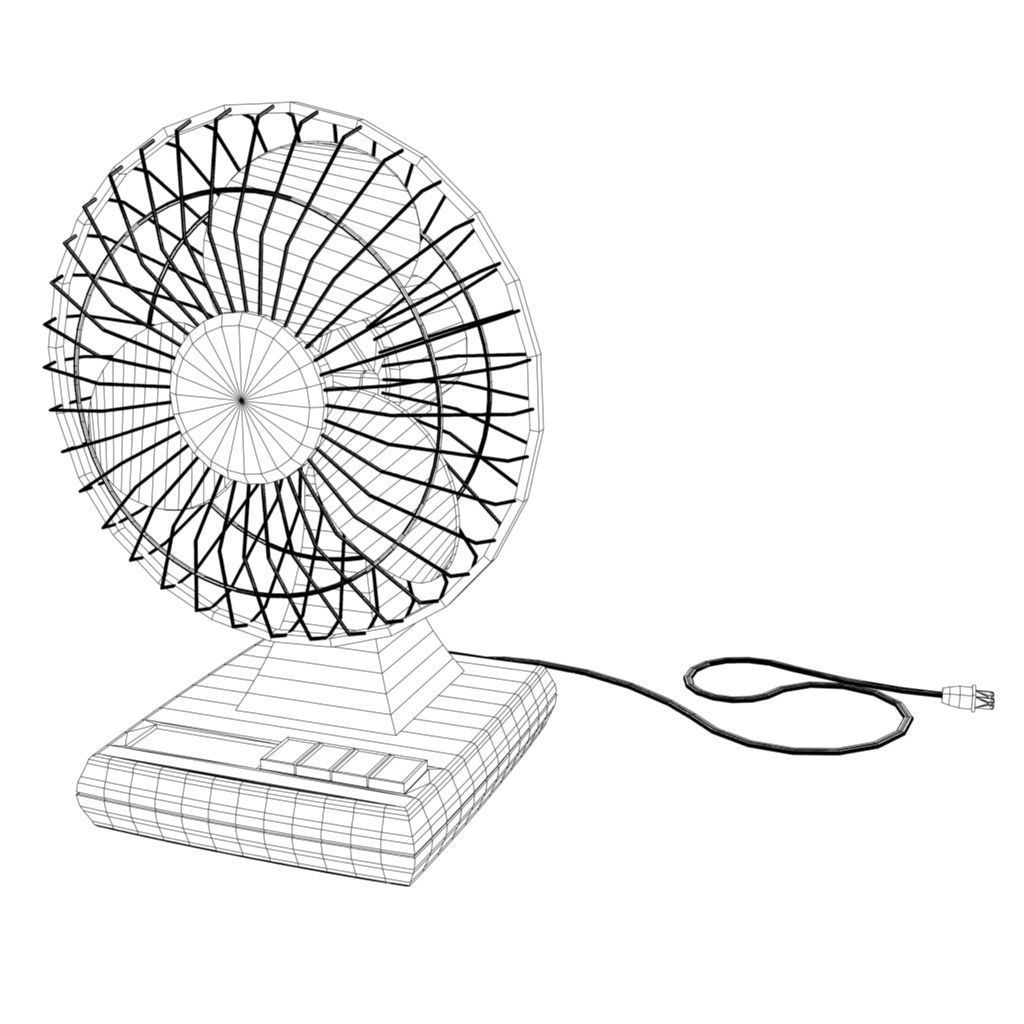 3d Model Electric Fan Vr Ar Low Poly Fbx Ma Mb