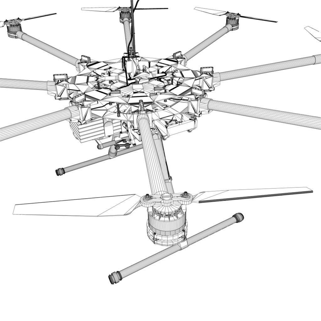 Dji S900 Camera Drone 3d Model Game Ready Fbx Mb