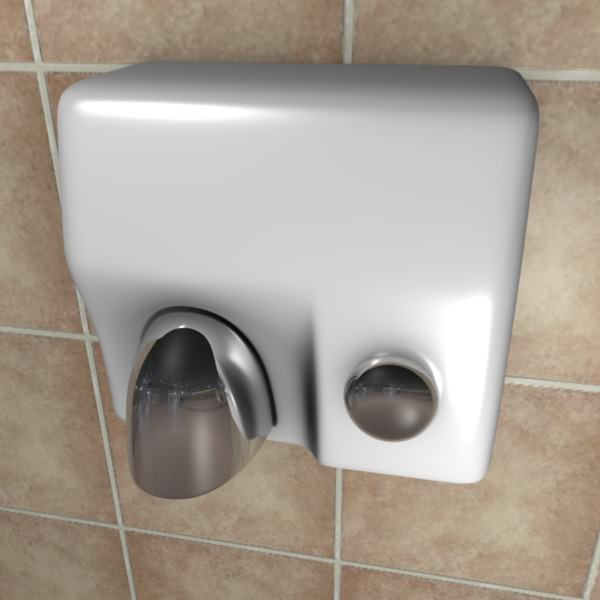 3d model hand-dryer | cgtrader