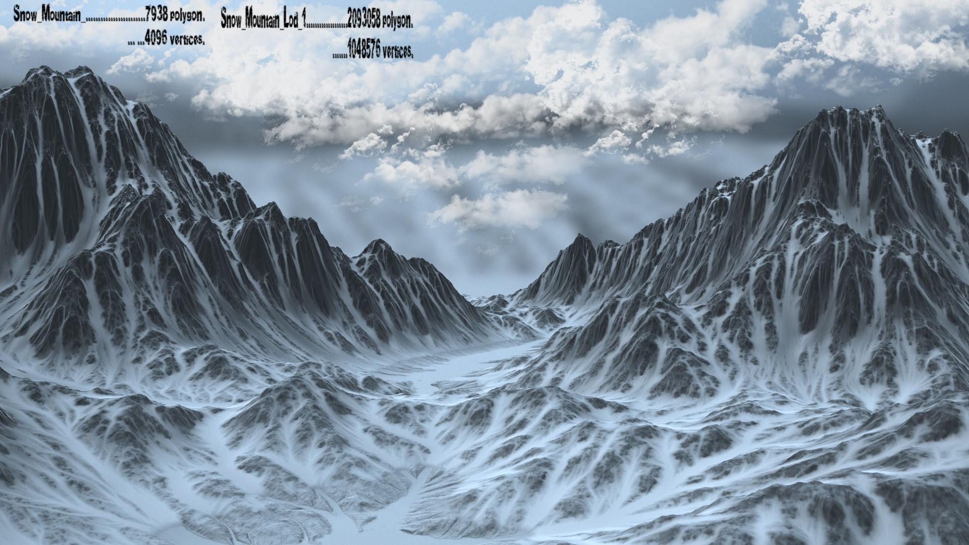 snow mountain 3d model | cgtrader
