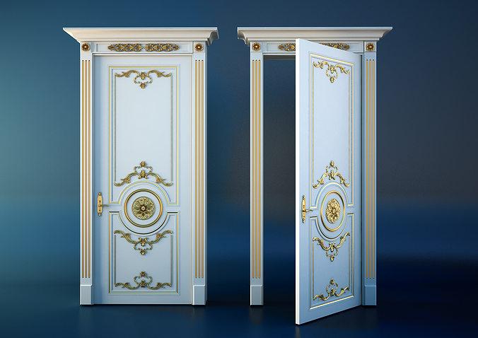 3D Model Classic Door CGTrader