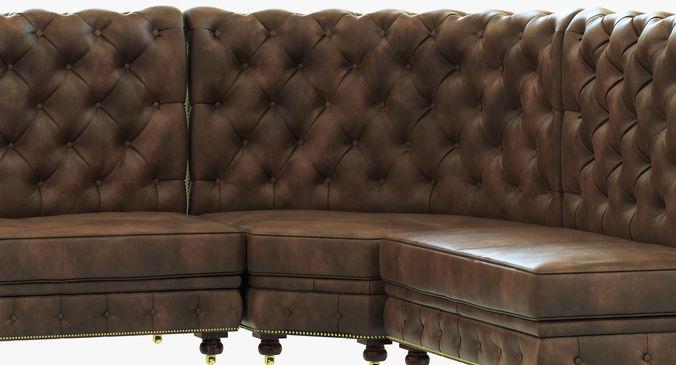 Restoration Hardware Kensington Leather L Banquette 3d Model Max Obj 3ds Fbx Mtl Cgtrader Com