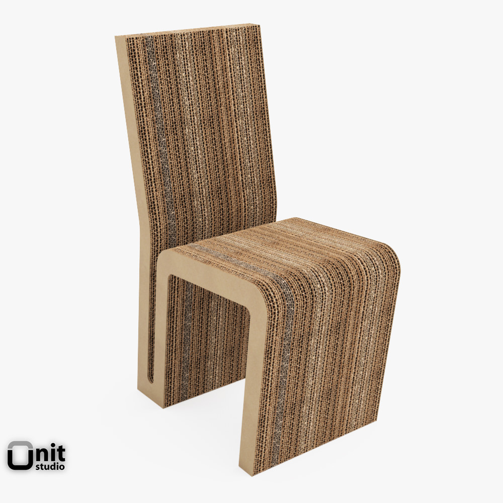 70s chairs is frank o gehry s cardboard chair wiggle side chair - Vitra Easy Edge Side Chair By Frank O Gehry 3d Model Max Obj 3ds