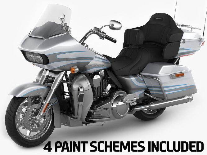 Harley Davidson CVO Road Glide Ultra 2016 3D Model MAX OBJ