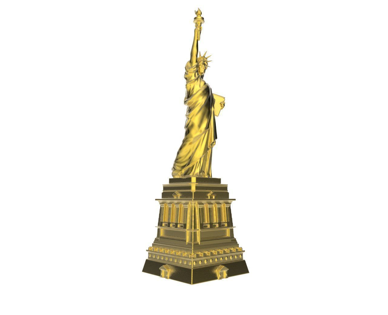 Scanned Statue Of Liberty 3d Model 3d Printable Obj Stl