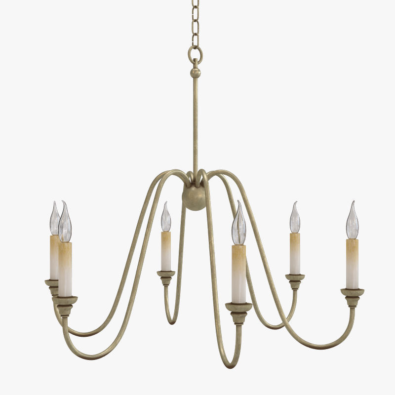 currey and company orion chandelier lighting 3d model