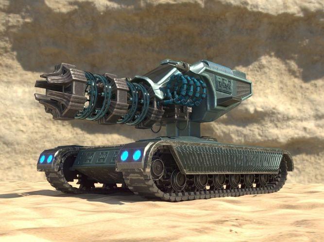 3d Model Future Weapon Plasma Gun Cgtrader