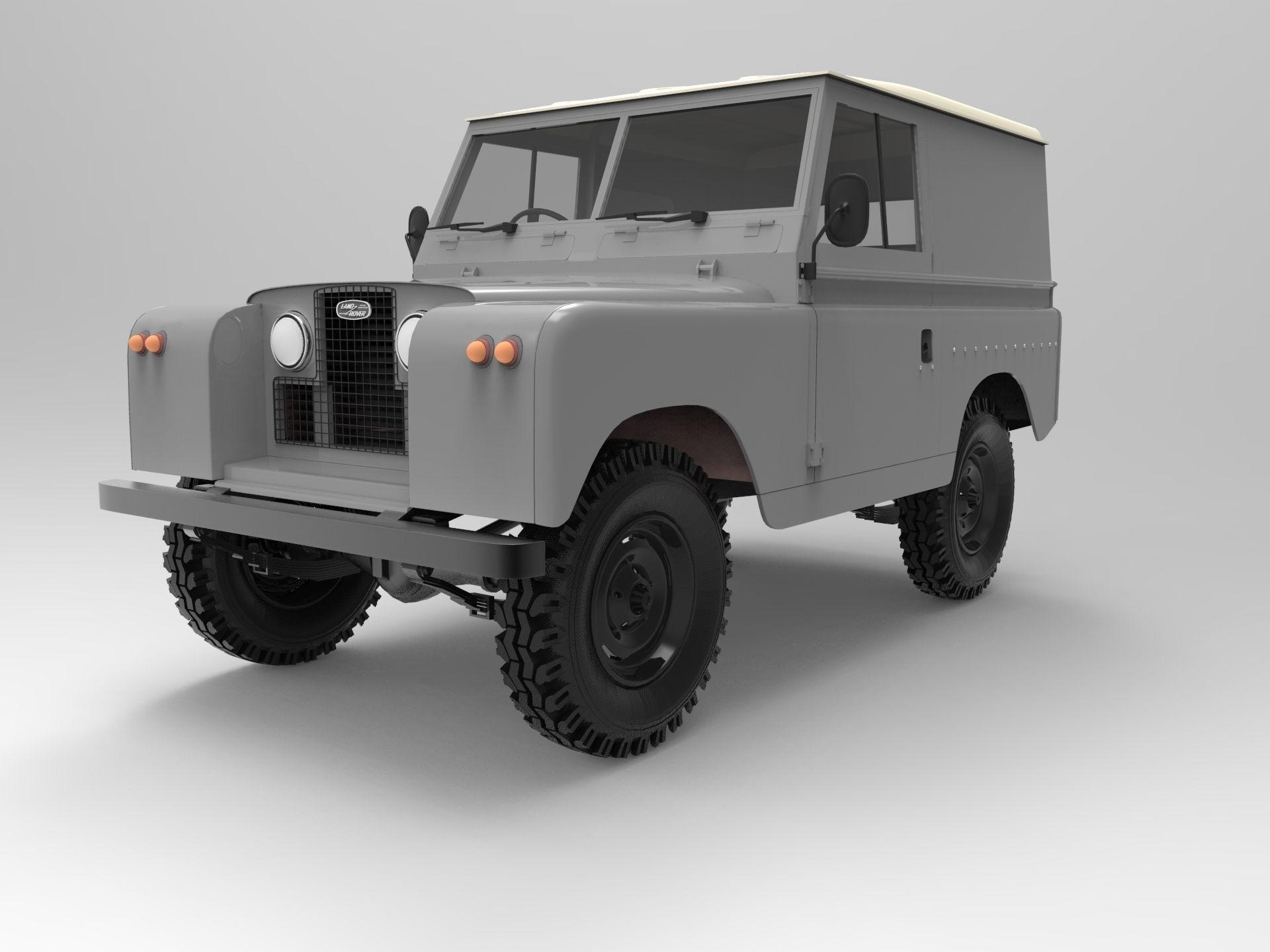 3D model 1958 Land Rover Series 2