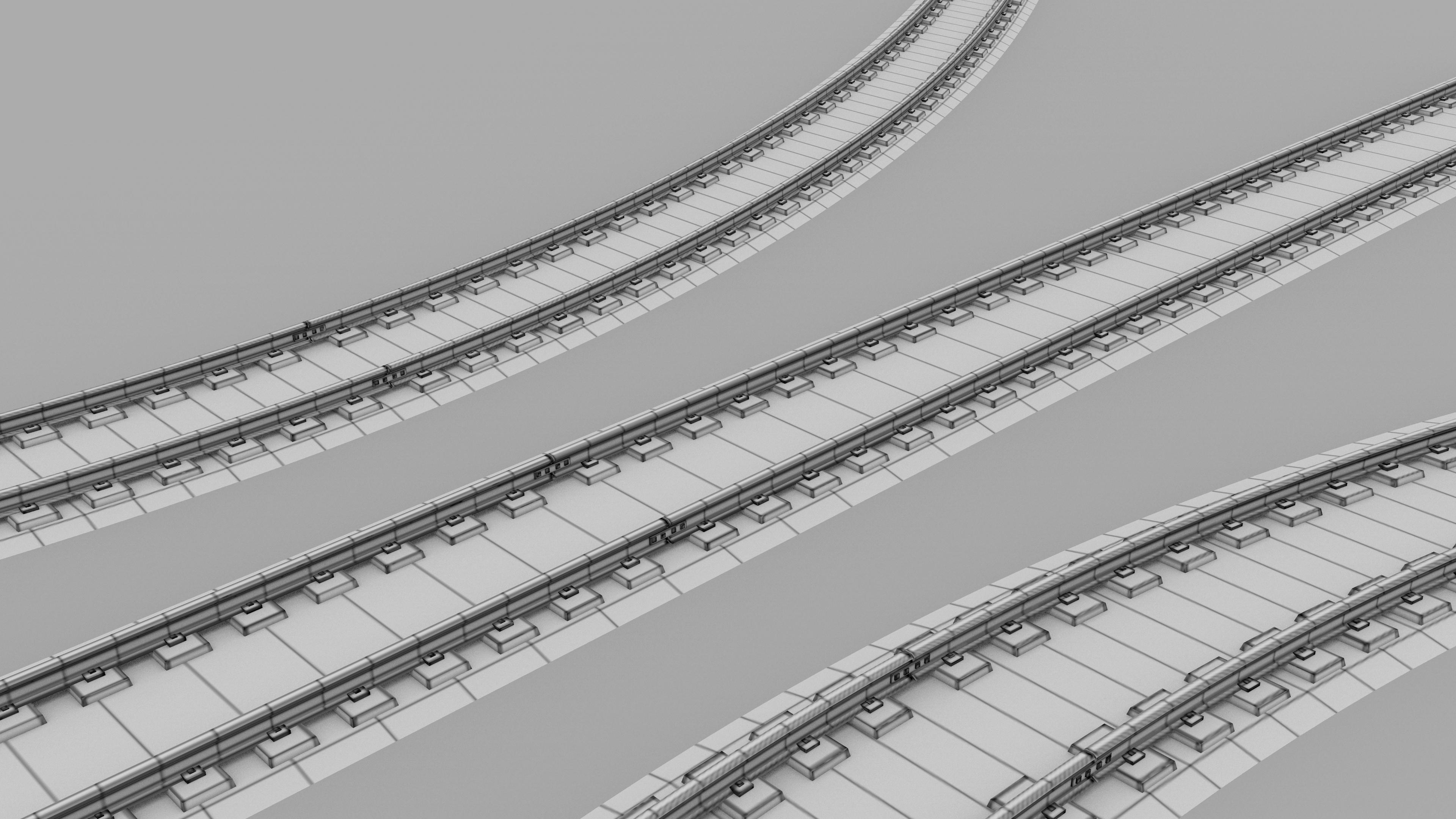 Train Subway Rail 3d Model Obj Blend Dae