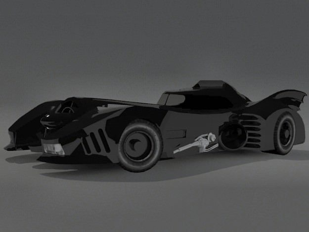 3D Model Batmobile CGTrader