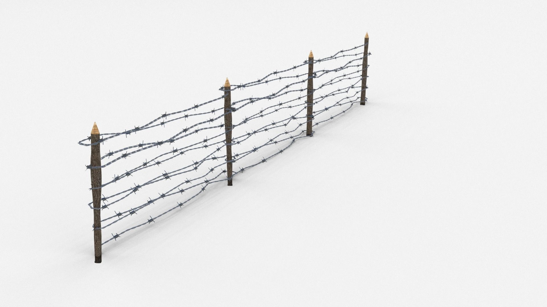 Triple Strand Concertina Wire Obstacle