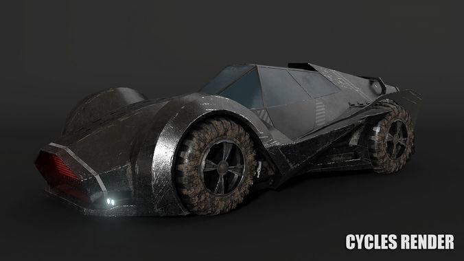 3D Model SCI FI Car CGTrader