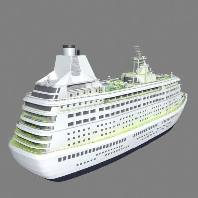 Cruise Ship 3D Model MAX | CGTrader.com