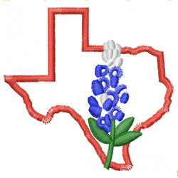 datastitch embroidery design texas blue bonnet 3 94 inches h x