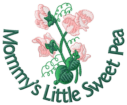 sweet pea embroidery # 75