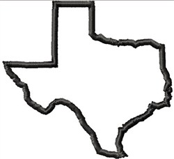 Texas Outline Embroidery Designs Machine Embroidery